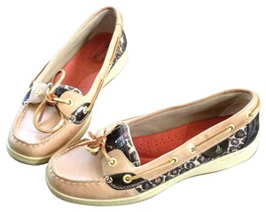 Sperry Tan/Leopard/Black Flats