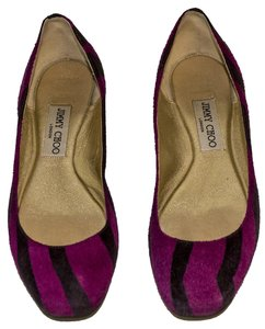 Jimmy Choo purple / black / gold Flats