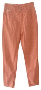 Escada Chic European Trouser Pants Orange White