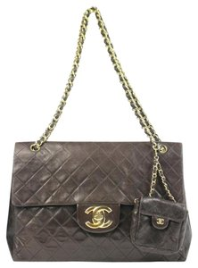 Chanel Maxi Single Flap Jumbo Xxl Shoulder Bag