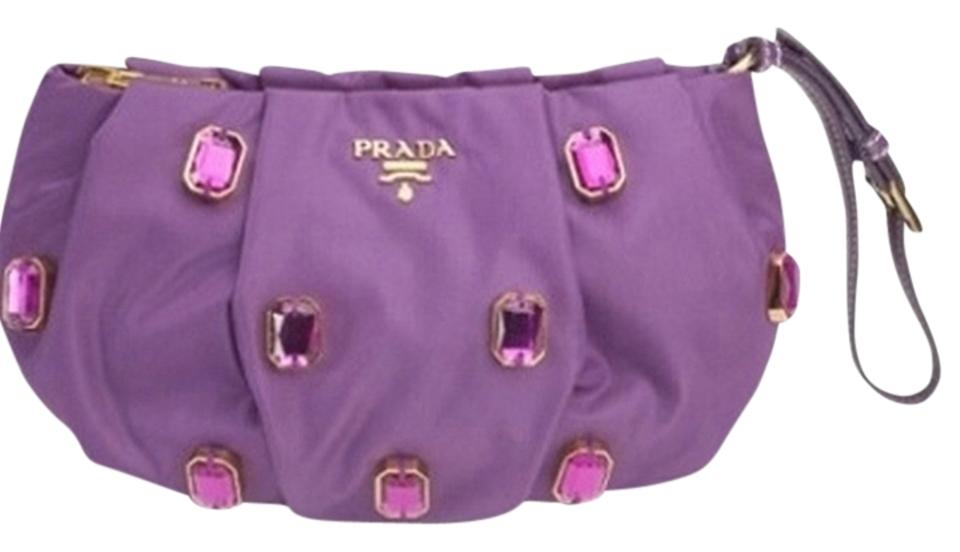 ab7f2dc7814c Prada Stones Evening Jeweled Wristlet in Purple Image 0 ...
