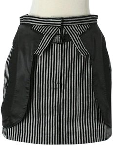 Alexander Wang Striped Color-blocking Mini Skirt Black & White
