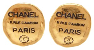 Chanel Chanel 31 Rue Cambon Goldtone Clip on Earrings