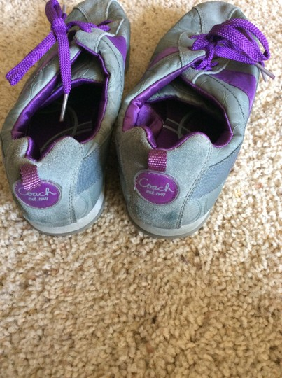 Coach Sneakers Suede Grey with purple Athletic