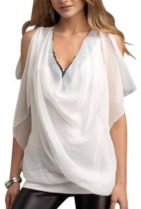 Robbi & Nikki by Robert Rodriguez Sequin Flowy Top White