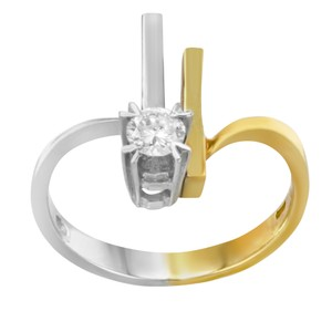 Salvini Salvini 18k Yellow & White Gold 0.2 Cttw Diamond Ladies Ring (12740)