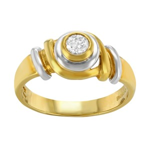 Salvini Salvini 18k Yellow & White Gold 0.19 Cttw Diamond Ladies Ring (12741)