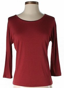 Max Mara 3/4 Sleeves T Shirt Red