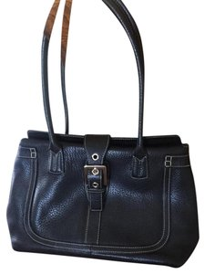 Mila Paoli Classic Grommets Buckle Shoulder Bag