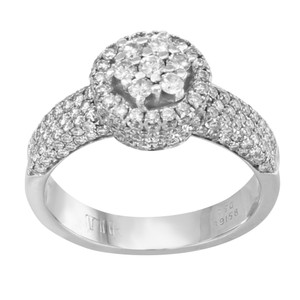 Saya 18k White Gold & 1.47 Cttw Diamonds Women's Engagement Ring (12712)