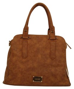 Nine West Gold Hardware Satchel in Brown