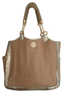 Tory Burch Channing Tote in Gold