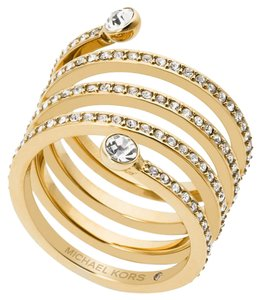 Michael Kors NWT MICHAEL KORS PAVE SPIRAL GOLD RING MKJ47227108 SIZE 8