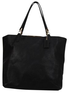 Coach Gold Hardware Tote in black