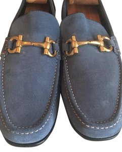 Salvatore Ferragamo Loafer Blue Flats