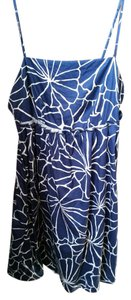 Lucy & Laurel short dress navy And White Cotton Party Summer With Pockets on Tradesy