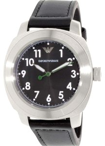 Emporio Armani NEW Emporio Armani Men's Sportivo AR6057 stainless steel + Black Leather Quartz Watch