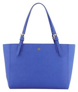 Tory Burch Tote in jelly blue/gold
