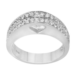 Saya 18k White Gold & 0.48 Cttw Diamonds Women's Cocktail Ring (12752)