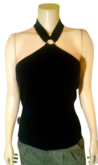New York & Company Size Small P1061 black Halter Top