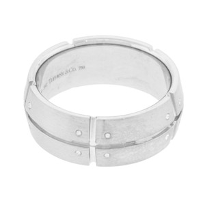 Tiffany & Co. Tiffany & Co. Streamerica 2002 18k White Gold Wide Men's Ring Size 8 (8573)