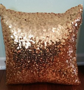 Add Some Gold Sequin Bling To Your Wedding W Gold Sequin Pillows!!