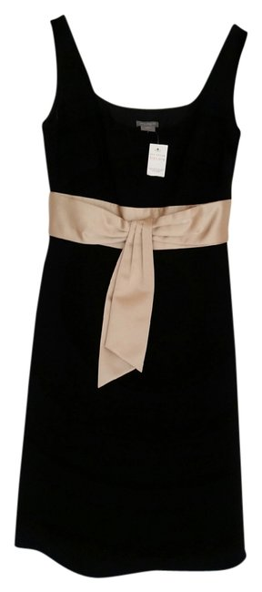 Preload https://item2.tradesy.com/images/ann-taylor-black-and-buff-knee-length-cocktail-dress-size-0-xs-1614011-0-0.jpg?width=400&height=650