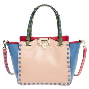 Valentino Satchel in Blue, Green, Tan