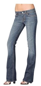 7 For All Mankind Seven Light Wash Long Boot Cut Jeans-Light Wash