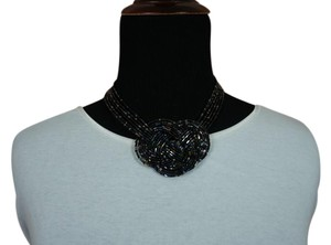 Other Black Beaded Knot Necklace