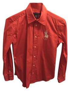Ralph Lauren Button Down Shirt Red Family