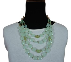 Multi Strand Green Bead Necklace
