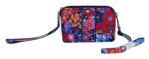 Vera Bradley Wallet Iphone Carrier Wristlet Cross Body Bag