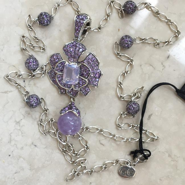 Item - Silver Purple Heritage Amethyst Pendant And Necklace