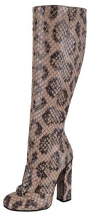 Gucci Knee High Knee High Brown and Beige Boots