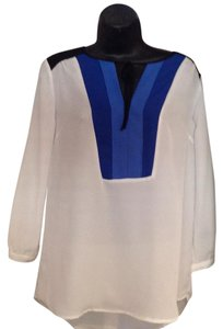 Elle Casual Business Top BLack, blue, white