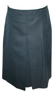 Barneys New York Pique Cotton Made In Italy Skirt Black