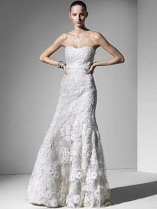 Monique Lhuillier Rocha Gown Designer Wedding Gown Lace Sweetheart Neckline Mermaid Gown Wedding Dress Designer Wedding Dress