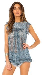ZIMMERMANN Iro Dvf Tory Burch Top Blue