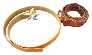 Talbots (one is) Lot of Two Woman's Leather Belts - One is Talbots