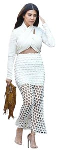 IRO Kenzo Just Cavalli Alice + Olivia Nightcap Maxi Skirt Ivory