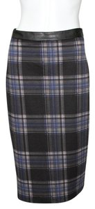5 twelve Skirt Black and Blue Plaid