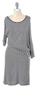Gold Hawk short dress Black & White Soft Stretchy Striped Bamboo on Tradesy