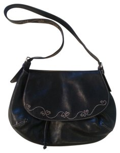 Cole Haan Embroidered Cross Body Boho Saddle Saddle Shoulder Bag