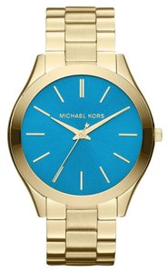 Michael Kors Michael Kors Women's Slim Runway Gold-Tone Stainless Steel Bracelet Watch MK3265