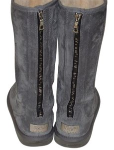 UGG Australia Suede Zip Tall Boot Gray Boots