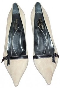 Kate Spade Tan with brown trim Pumps