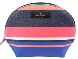 Kate Spade Kate Spade WLRU2545 Women's Keri Wellesley Tropical Stripes Small Dome Cosmetic Case NEW!
