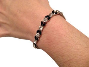 MONET Monet black and rhinestone bracelet