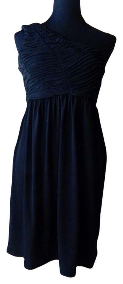 Gianni Bini Black One Shoulder Above Knee Night Out Dress Size 6 S